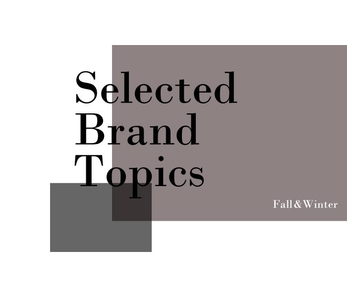 Selected brand Topics